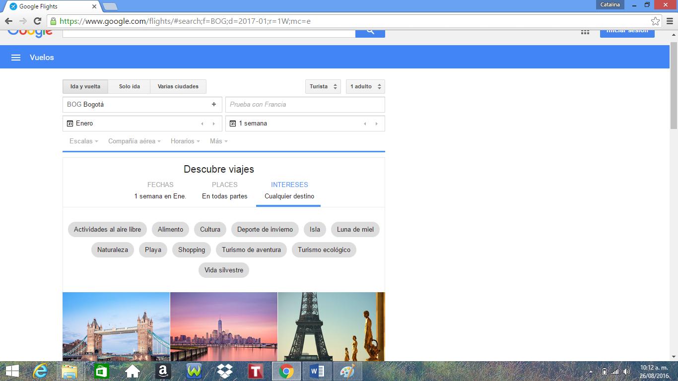 Imagen google fligths